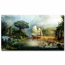 Guild Wars 2 Game Landscape Art Silk Poster Wall Decor 24x36 inch