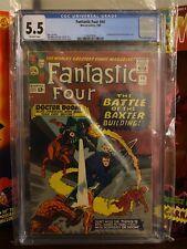 CGC 5.5 FANTASTIC FOUR #40 .. DR. DOOM .. DAREDEVIL .. JACK KIRBY COVER & ART ..