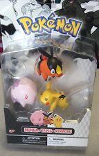 Pokemon Black & White 3 Pack Figurines Munna Tepig Pikachu by Jakks Pacific