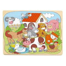 KINDER TIER HOLZPUZZLE Holzspielzeug Kleinkinder Puzzle Geduldsspiel  # 91929