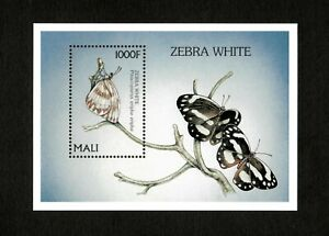 VINTAGE CLASSICS - Mali 1997 - Butterflies, Zebra White - Souvenir Sheet - MNH