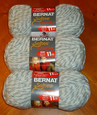 Bernat Softee Chunky Yarn Lot Of 3 Skeins (Grey Ragg #28047)
