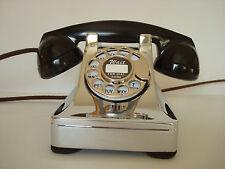 "Antique Western Electric telephone Model 302 ""PREWAR""  Restored Chrome  Beauty"