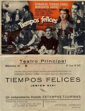 Programa PUBLICITARIO de CINE: TIEMPOS FELICES.