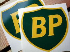 "BP 89 on Shield Racing Car STICKERS 6"" Pair Sponsor Rally Decal Petrol Pump Gas"