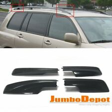 4x Black Roof Rack Cover Rail End Shell Replacement Fit 01-07 Toyota Highlander