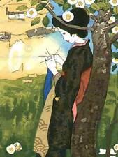 Paisaje cultural Japón Abstracto Geisha Takehisa Yumeji cartel Art Print BB702B