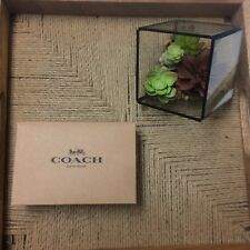 Coach Mens F64839 Cut to Size Reversible Signature Belt Mahogany  BNWT
