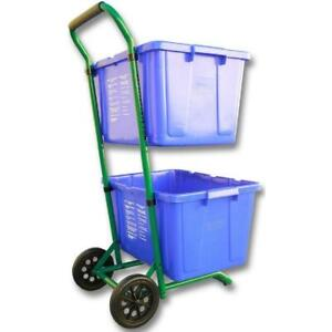 Moving Recycle Bins Recycle Cart Steel 400 Plus lbs Rated w Wheels Single Pack