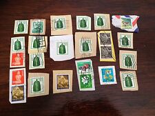 Assorted Stamps from Japan Nippon - unsoaked on paper