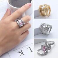 versilbert schmuck frauen crystal strass kubische zirkon ring wird verlobung