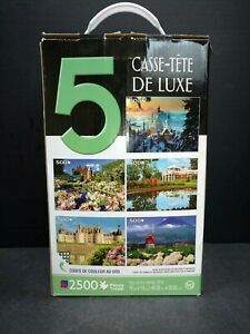 5 Deluxe Puzzles 2500 Pieces TCG Famous Places PS