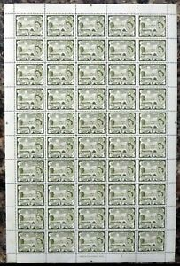 St KITTS & NEVIS 1956 - ½c SG106a Complete Sheet of 50 Cat £35+ DM444