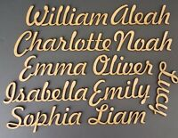 Script Names Letters Words MDF Personalised Guest Book  Wooden Wood Wedding FH