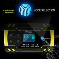 Cargador de Batería para Coche y Moto 12V 24V Cargador Mantenedor Automático ES