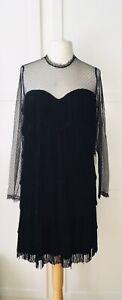 Hell Bunny Limited Edition Size XL/UK 16, Fringed Twenties Style Dress, BNWT