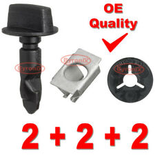 REAR BUMPER TOWING TOW EYE COVER CLIPS TURN PIN CLAMP Audi A1 A3 Q5 Q7 6Q0807643