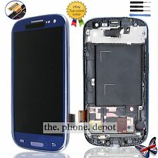 For Samsung Galaxy S3 i9300 LCD Touch Screen Digitizer Display & Frame Blue UK