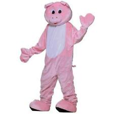 Forum Deluxe Plush Pig Mascot Costume Pink One Size