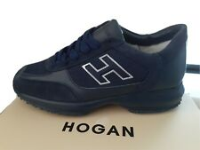 HOGAN INTERACTIVE H FLOCK MENS TRAINERS/SNEAKERS NAVY/NAVY - 3 DAY SALE, QUICK!!