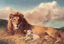 Peace On Earth by Nancy Glazier SSH Lion & The Lamb Open Edition 9x12 Print