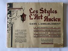 LES STYLES L'ART ANCIEN DANS L'AMEUBLEMENT ILLUST LIT MOBILIER LUMINAIRE