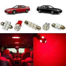 8x Red LED lights interior package kit for 1997-2001 Honda Prelude HL1R