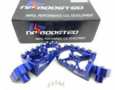 99+ Yamaha YZ85 YZ125 YZ250 YZ450 YZF Foot Pegs Footrests WIDE FAT Anodized Blue