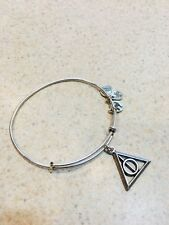 Alex and Ani Harry Potter Deathly Hallows Metal Bracelet Silver Tone