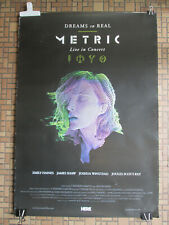 "Metric Canadian Rock Band ""Dreams So Real"" 2016 Concert Film Poster"