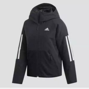 Adidas BTS 3-STRIPES WOMEN`S HOODED WINTER JACKET DZ1518 Black