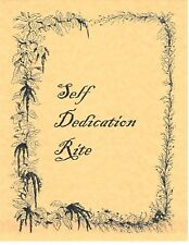 Book of Shadows Spell Pages ** Self-Dedication Rite ** Wicca Witchcraft BOS