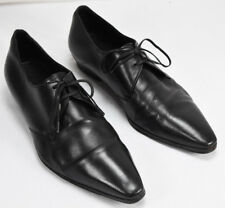 Dior Homme Men's Leather Oxford Derby Dress Shoes Black Size Eu 41 US 8 Pointed