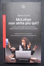 MCLUHAN NON ABITA PIU' QUI ? attenzione parziale Contri  I ed. 2107  Boringhieri