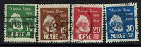 Norway SC# 132-135, Used, Hinge Remnant, 132 pulled perfs - Lot 041617
