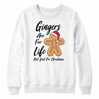 Gingers Are For Life Not Just For Christmas Jumper Funny Xmas Sweatshirt Mens