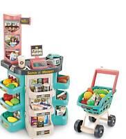 Kids Super Supermarket with shopping cart toy food sounds and LED lights till Uk