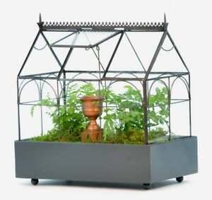 H Potter Plant Terrarium Container, Large Glass Wardian Case, Indoor Planter
