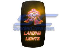 UTV Rocker Switch Orange Led On Off Landing Light Box Square 5 tab Dune Sand