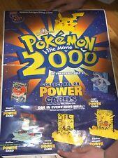 Burger King Pokemon 2000 Movie Power Cards Display Window Sticker Promotional