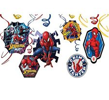 Marvel SPIDER MAN Hanging Swirl Decoration Birthday Party Supplies SPIDERMAN ~12