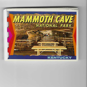 VINTAGE-POSTCARD FOLDER-MINI-MAMMOTH CAVE NATIONAL PARK-KENTUCKY