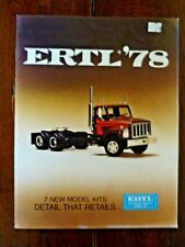 Catalogue ERTL '78 camions - Toy catalog Model kits ERTL 1978