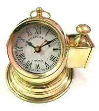 Decorative Shinny Brass Helmet Clock Nautical Maritime Desk & Shelf Clocks
