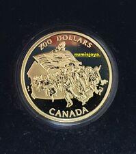 CANADA 200 Dólares Oro año 1990. Peso 17,135 gr. 1/2 onza 999/000. RARA.