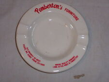 ADVERTISING GLASS ASHTRAY-PEMBERTON'S FURNITURE(OLD HIGHWAY 66/PACIFIC, MO.)