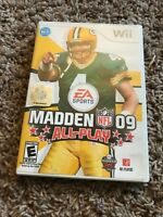 Madden NFL 09: All-Play (Nintendo Wii, 2008) Cleaned Tested CIB