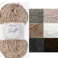 King Cole Truffle Knitting Yarn Wool 100g Ball Knit Fluffy Soft Touch