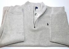 Polo Ralph Lauren Boys Half Zip Sweater ANDVER HTR  Sweatshirt 100% Cotton