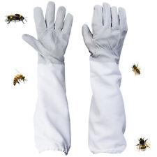 1 Pair Beekeeping Gloves Goatskin Bee Keeping Protection Ventilated Long Sleeves